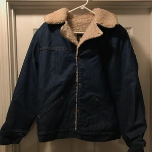 Vintage Wrangler Wrange denim and sherpa jacket